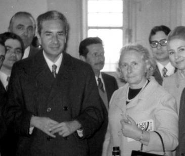 Nella foto: Aldo Moro e sua moglie Eleonora