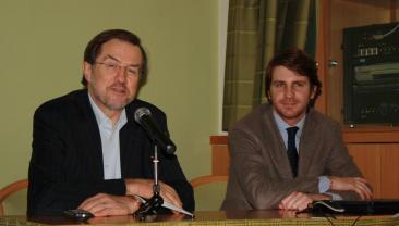 L'on. De Romanis con l'ex primo Ministro sloveno Peterle