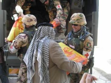 Consegna di aiuti umanitari in Iraq
