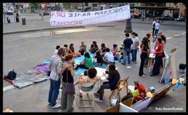 Gli 'Indignati' si mobilitano per tre giorni (Foto di Chiara Rossi)