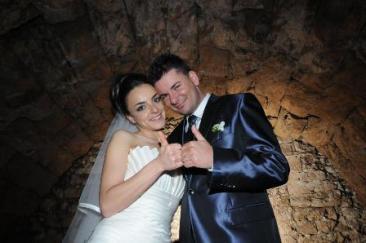 Marco e Ilaria sposi nella 'Rieti Sotterranea'