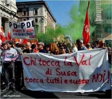 Roma-Corteo No Tav di solidarietà per i manifestanti della Val di Susa (Foto di Chiara Rossi)