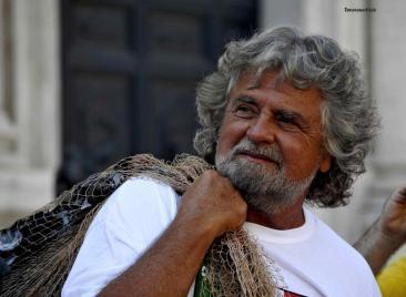 Beppe Grillo e il 'Cozza day' (foto di Chiara Rossi)