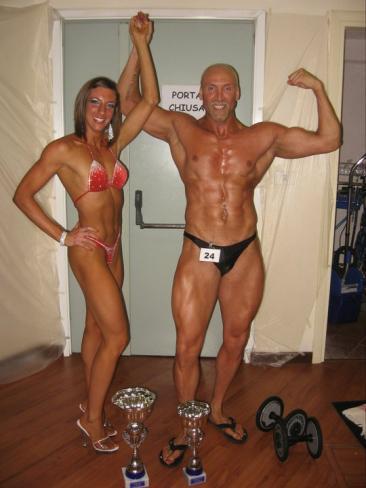 Simona insieme al suo allenatore Maurizio D'Antonio