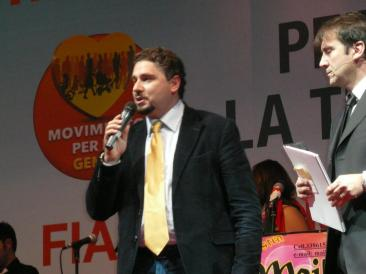 Nella foto: il dirigente del Partito Tradizional popolare Nino Sala (Foto: Il. Mis.)