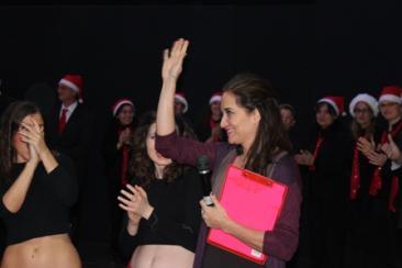 Nella foto Maria Strova, direttore artistico dell'associazione Omphalos organizzatrice dell'evento (Foto: g.m.t.)