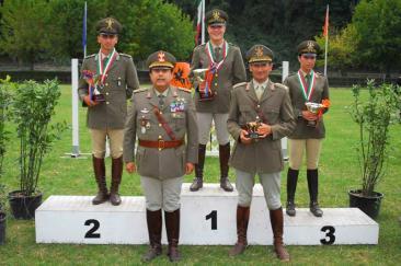 Il podio del Criterium Militare