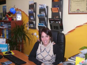 """Monia Pompei, tour operator dell'agenzia di viaggi """"Oasi di relax"""" (foto ste. pa.)"""