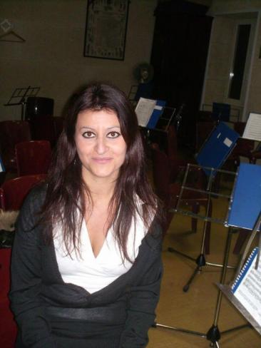 Catia Di Giovanni, direttore della banda musicale di Fiano Romano (Foto: ste. pa.)