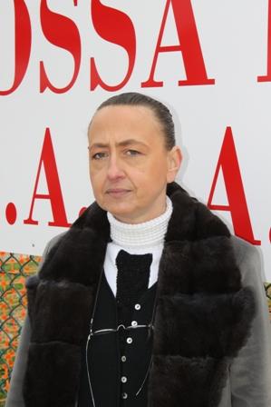 Nella foto Simona Bossi, rappresentante del capogruppo del partito 'La Destra' Adriano Tilgher