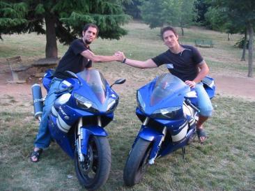 """Nella foto Dany Giannetti e Sabino Fioravanti, i fondatori del gruppo """"The Shining"""" ed organizzatori del raduno motociclistico """"Free Bikes Day"""" (Foto: g.m.t.)"""